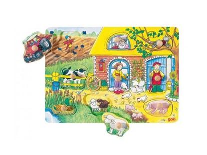 Billede af Knoppuslespil med bondegård