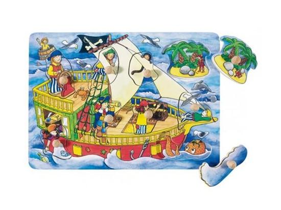 Billede af Knoppuslespil med pirat skib