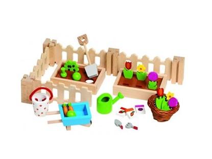 Billede af Lille have til dukkehus