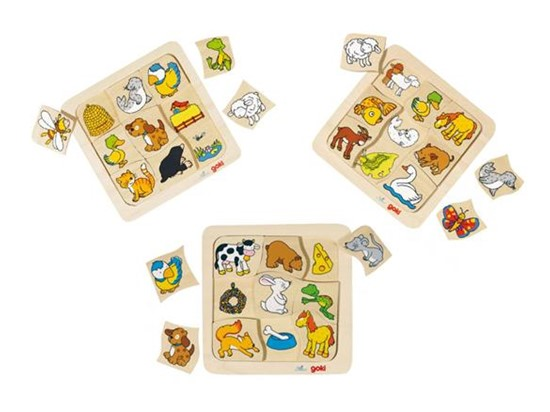 Billede af Lærerige puslespil om dyr