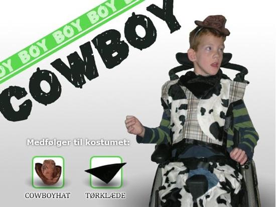 Billede af Cowboy - Dreng. Kostume til kørestolsbruger