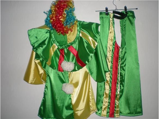 Billede af Klovnen. Kostume til kørestolsbruger