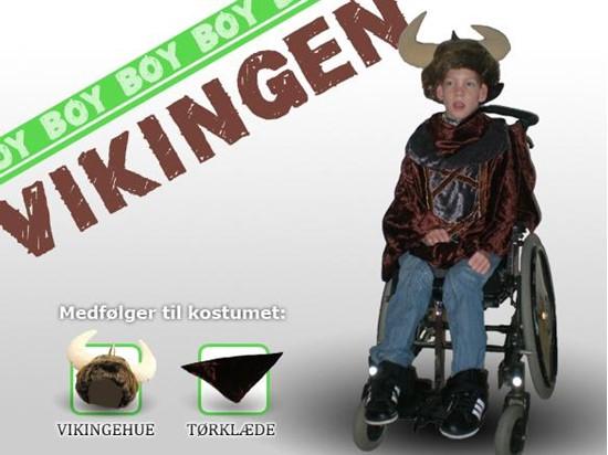 Billede af Vikingen. Kostume til kørestols bruger