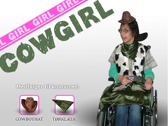 Billede af Cowgirl - Grøn. Kostume til kørestolsbruger