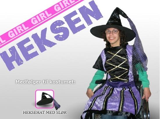 Billede af Heksen. Kostume til kørestolsbruger.