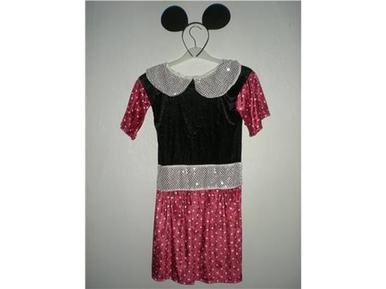 Billede af Minnie Mouse. Kostume til kørestolsbruger.