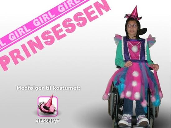 Billede af Prinsessen. Kostume til kørestolsbruger
