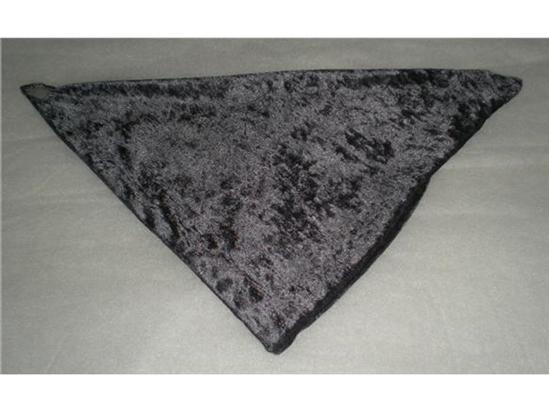 Billede af Grå velour tørklæde