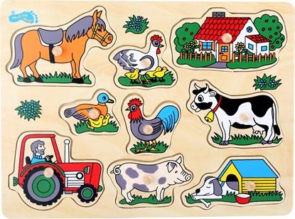 Billede af Knoppuslespil med landmands liv