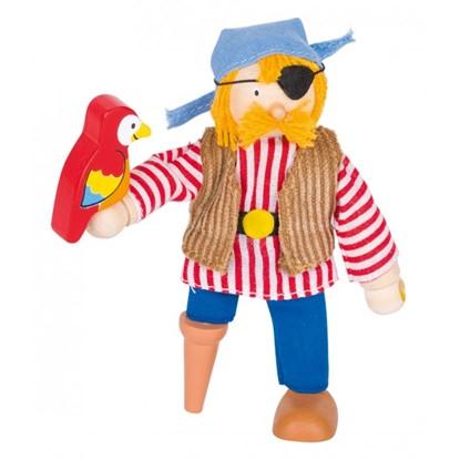 Billede af pirat figur med papegøje