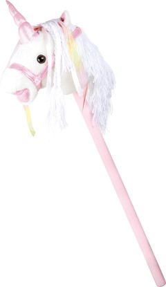 Billede af Hvid enhjørning som kæphest, med lyd