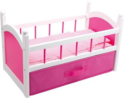 Billede af Pink dukkeseng med opbevaringsbox