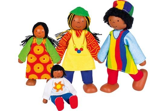 Billede af Afrikansk familie til dukkehus