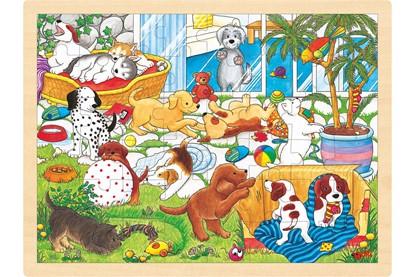 Billede af Træ puslespil Legesyge hundehvalpe
