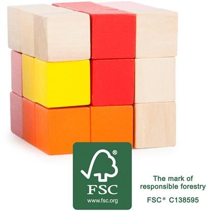 Billede af Cube til børn og voksne- rød-gul