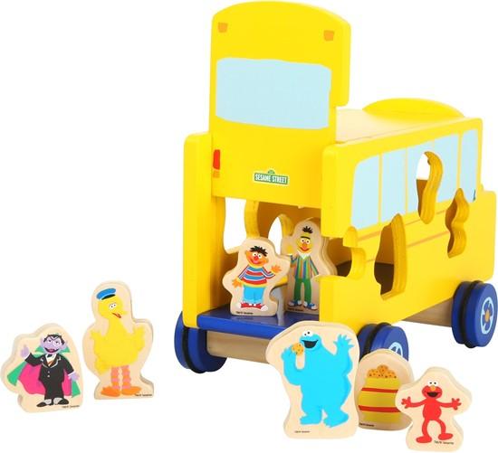 Billede af Sesame street, put-i-kasse trækvogn
