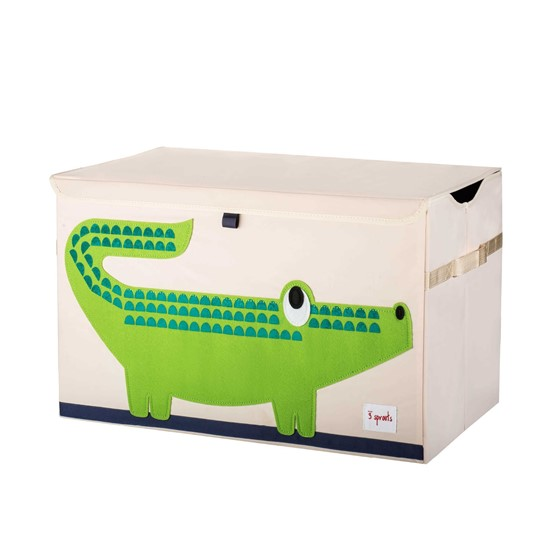 Billede af 3 SPROUTS Opbevaringskasse med låg - krokodille