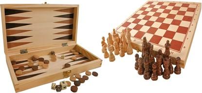 Billede af Skak og Backgammon i træ