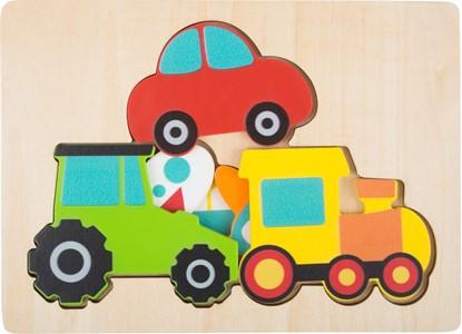 Billede af Køretøjer - puslespil i 3 lag