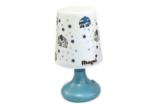 Billede af Lampe med blå elefanter