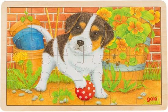 Billede af Hundehvalp - Træpuslespil