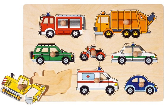 Billede af Knoppuslespil - Forskellige køretøjer