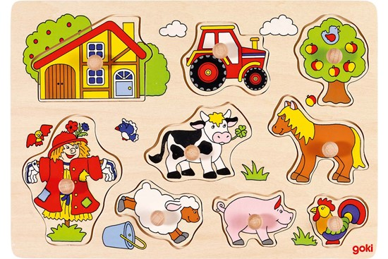 Billede af Knoppuslespil - På bondegården