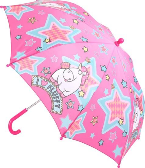 Billede af Børne paraply -Fluffy enhjørning