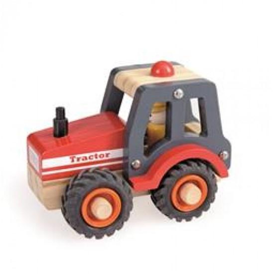 Billede af Træ traktor med mand