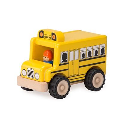 Billede af Mini træ skolebus.