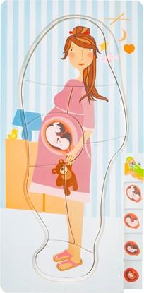 Billede af 4 lag puslespil - Gravid kvinde