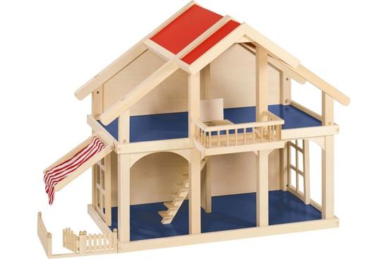 Billede af Dukkehus med balkon og terasse