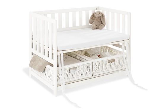 Billede af Pinolino Bedside Crib-  Babyseng Janne Hvid