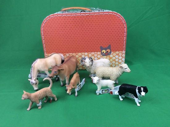 Billede af Bondegårds dyr  i kuffert