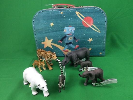 Billede af Dyr fra hele verden - i kuffert