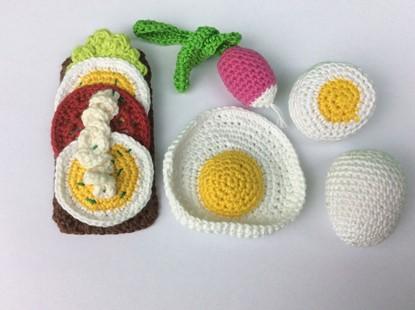 Billede af Hæklet Legemad - Æg og Æggemad med tilbehør