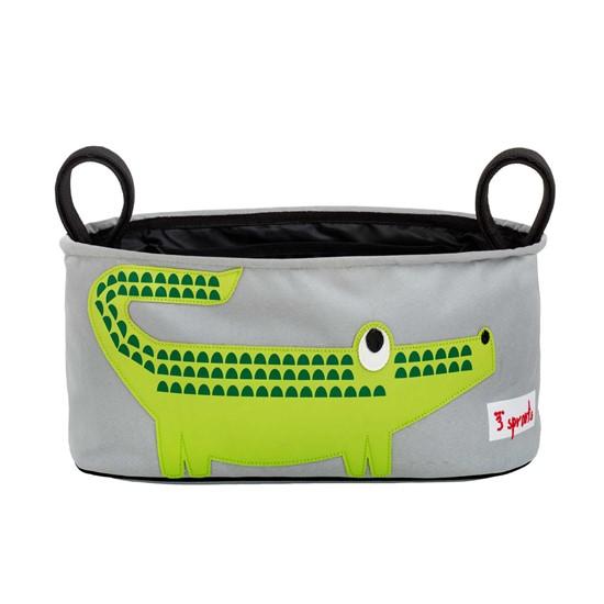 Billede af 3 SPROUTS Opbevarings taske til klap- eller barnevogn. Krokodille