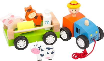 Billede af Træk legetøj - Bondemand med dyr