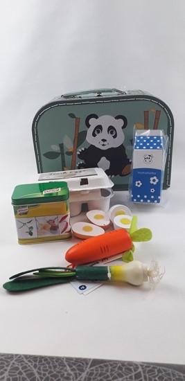 Billede af Legemad i kuffert -  Grøn Panda