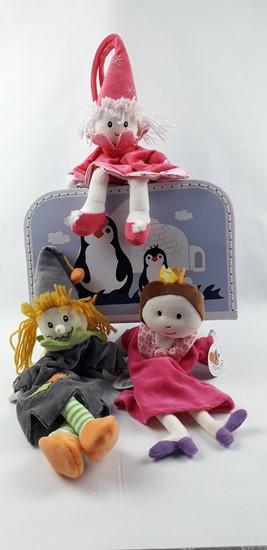 Billede af Hånddukker i kuffert. Heks, Fe og Dronning