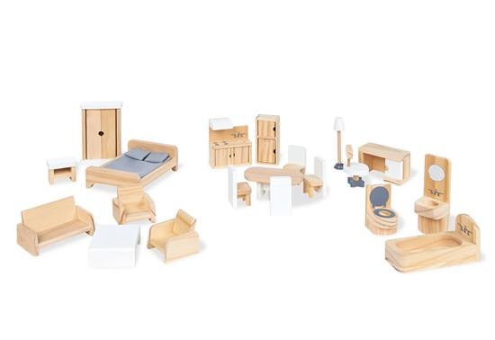 Billede af Pinolino dukkehus møbler