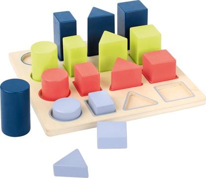 Billede af Lær om form og farver. Puslespil - Geometriske former