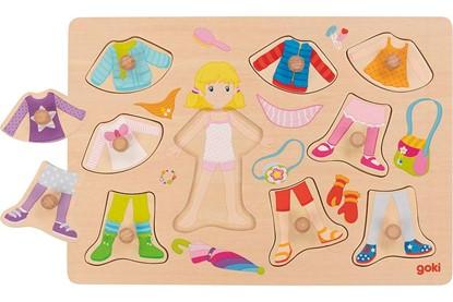 Billede af Knop puslespil - Påklædningsdukke