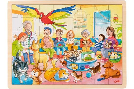 Billede af Puslespil - Dyrlægens ventesal